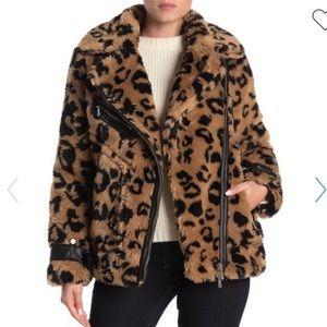 Avec Les Filles Leopard black tan faux fur medium